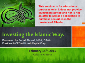 image for investing islamic presentation